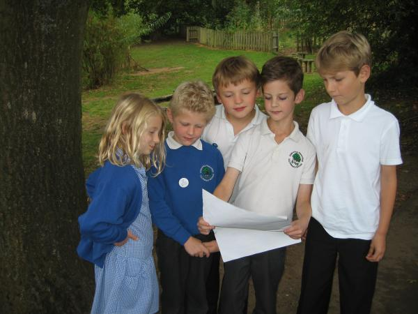 HERITAGE FUNDING: Abberley Primary School pupils Emily Crabbe, Matthew Juckes, Charlie Walker, Sam Juckes and Lucas Webb will take part in the archaeological project.
