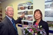 FLASHBACK: Kenneth Hobson, and Barbara Longmore, honorary secretary, at the launch of Bewdley Civic Society's 70th anniversary exhibition. Picture: Colin Hill