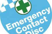 The emergency contact disc could help save lives.