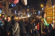 CHRISTMAS SPIRIT: The countdown to the festive period begins when the Bewdley Christmas lights are switched on.