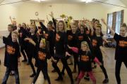 KEEP DANCING: Zennor McGuire and the participants of the Tapathon 2014 at Zennor's Dance and Musical Theatre Academy.