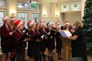SING IT: Winterfold House School's Chamber Choir singing at the fundraising event.