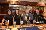 CHEERS: Mayor of Bewdley, Derek Killingworth, centre, with members of staff at the refurbished Great Western pub.