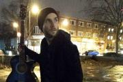Musician Joseph Baker in London where he met a homeless man with a heartbreaking story to tell