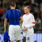Kidderminster Shuttle: Wayne Rooney, right, was pleased by England's response to their upsetting first-half display
