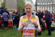 Lucy Dawkins completed the 2015 London Marathon after recovering from a life-threatening car crash.
