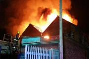 The Dudley snooker club engulfed in flames. PHOTO: WEST MIDLANDS FIRE SERVICE