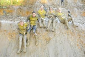 Fundraisers get muddy on Wolf Run for special cause