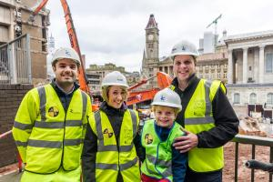 Construction crazy Hagley youngster gets VIP treatment at £500m scheme
