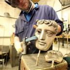 Kidderminster Shuttle: Watch how the famous Bafta mask is made