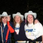 Kidderminster Shuttle: Dressed for the part:Some of the walkers at Callow Hill on Saturday night.