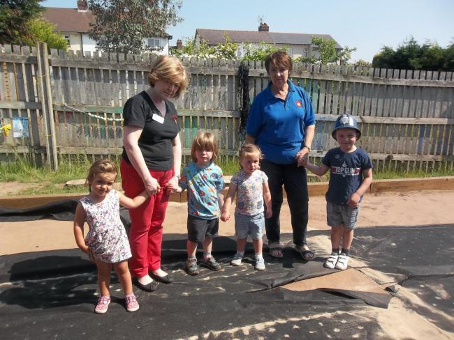 Nursery children 'devastated' by theft of astroturf play