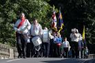 The parade was led by the Bewdley Scout and Guide Band. Picture by Adam Fradgley