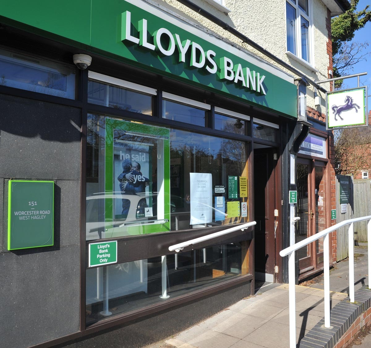 The closure of Lloyds Bank's West Hagley branch has been delayed until October 5