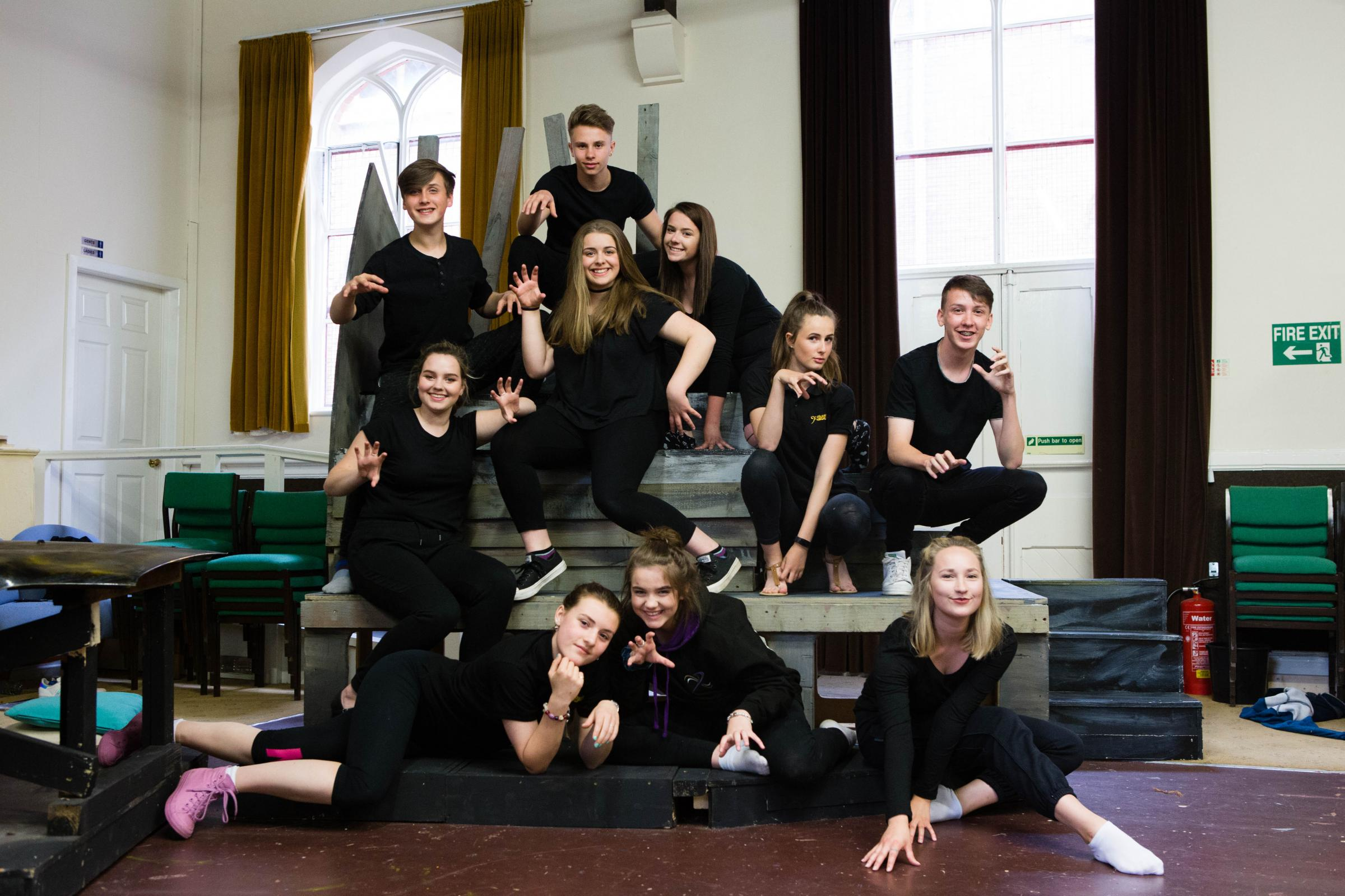 Kidderminster Operatic and Dramatic Society's youth section in rehearsals for Cats