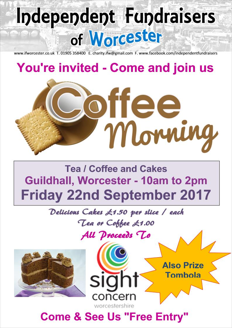 Coffee Morning & Prize Tombola for Sight Concern