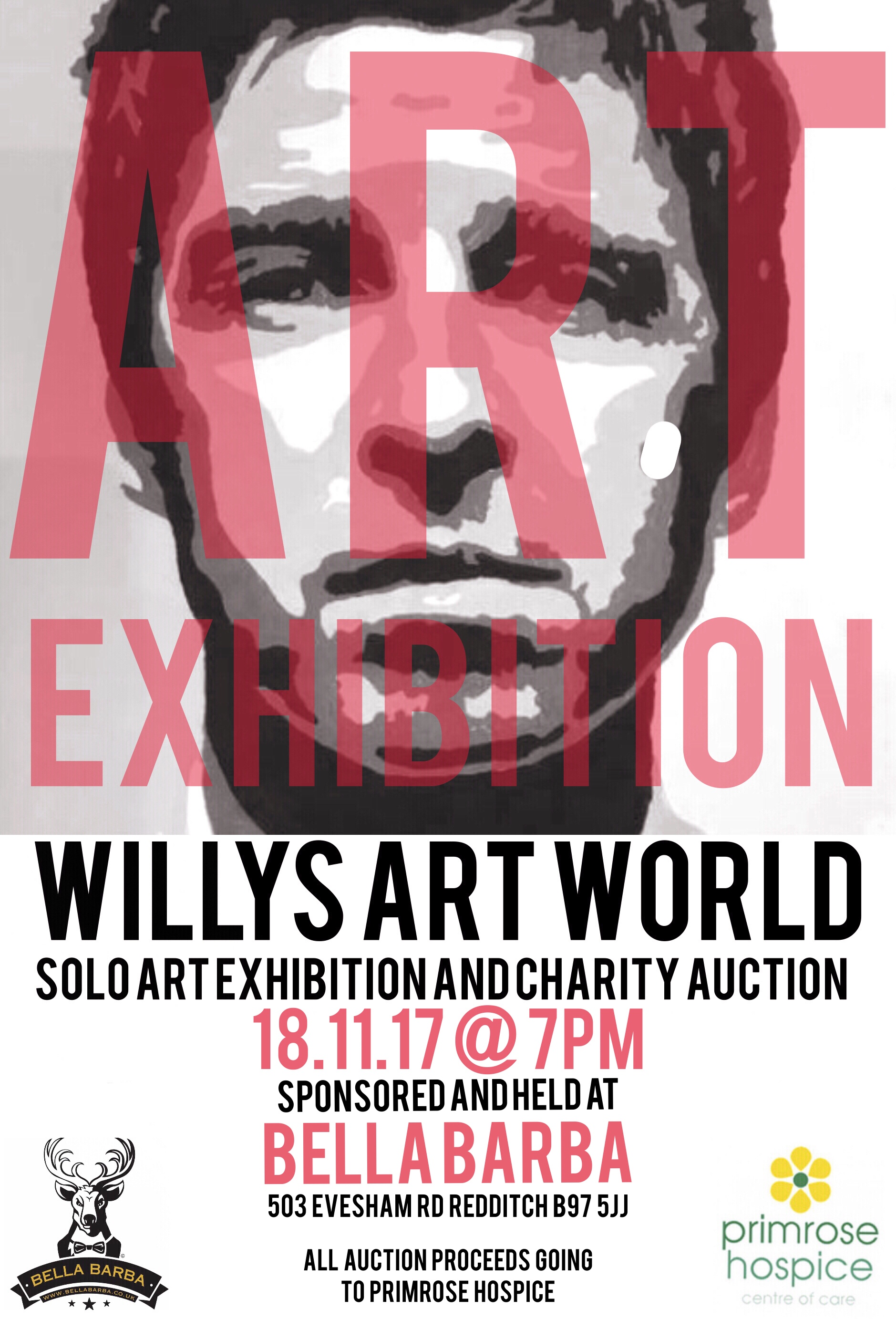 Willys Art World solo art exhibition and auction