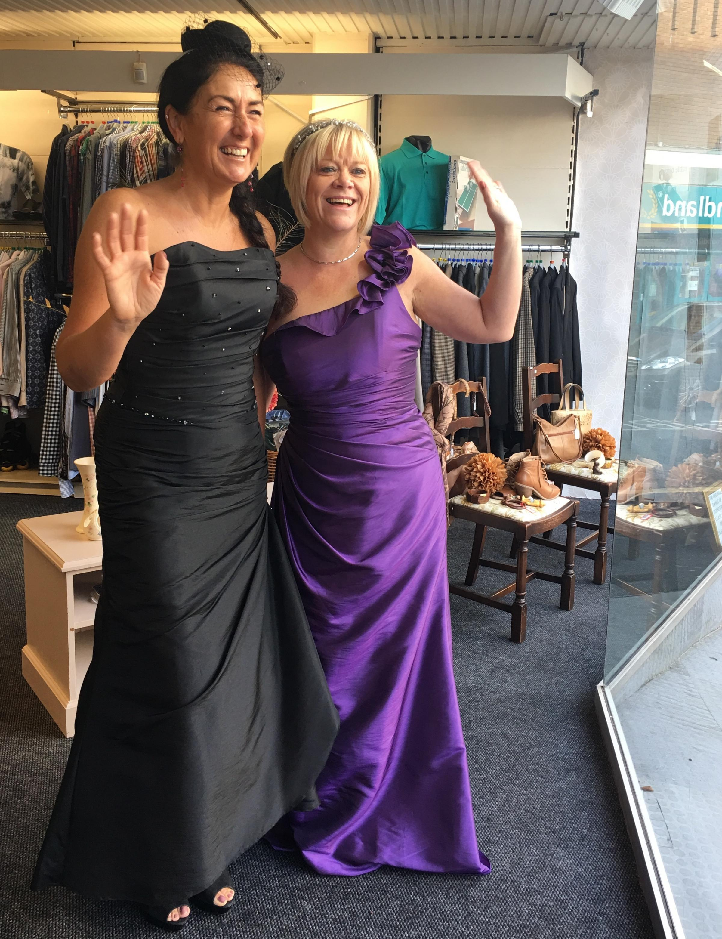 Catwalk preparations for annual Kemp Hospice fashion show ...