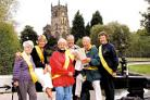 Charity walkers: Barbara Pugh, Jenny Whitehouse, Brenda Banner, John Banner, John Nutland and Joan Nutland. Picture: COLIN HILL.