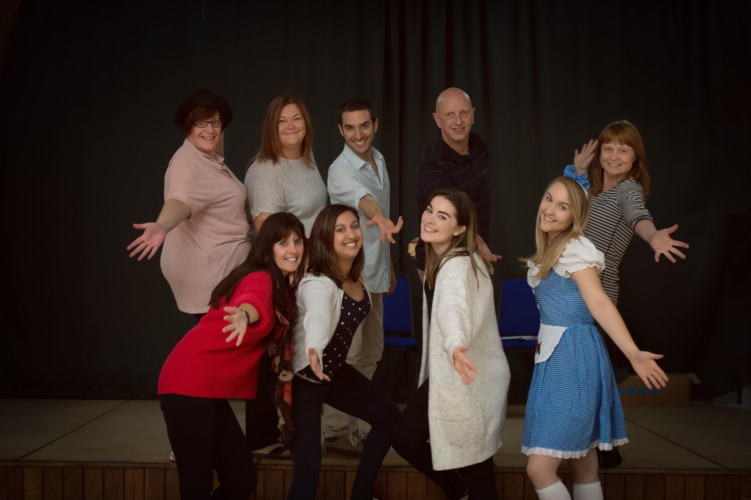 VETS: The cast of The Wizard of Oz pantomime (Credit: Aniko Towers)