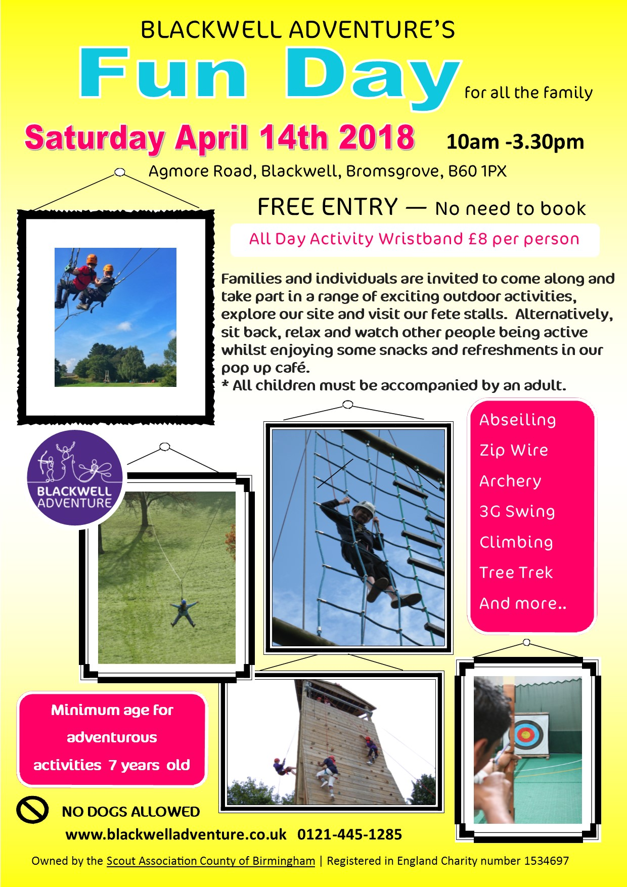 Family Fun Day Saturday 14th April 2018