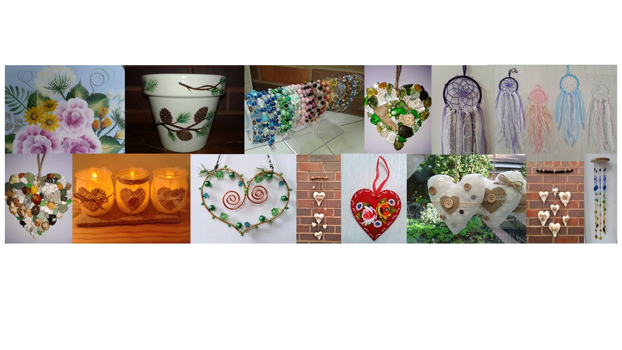 Craft Classes for Adults - 5 projects introducing a variety of craft skills
