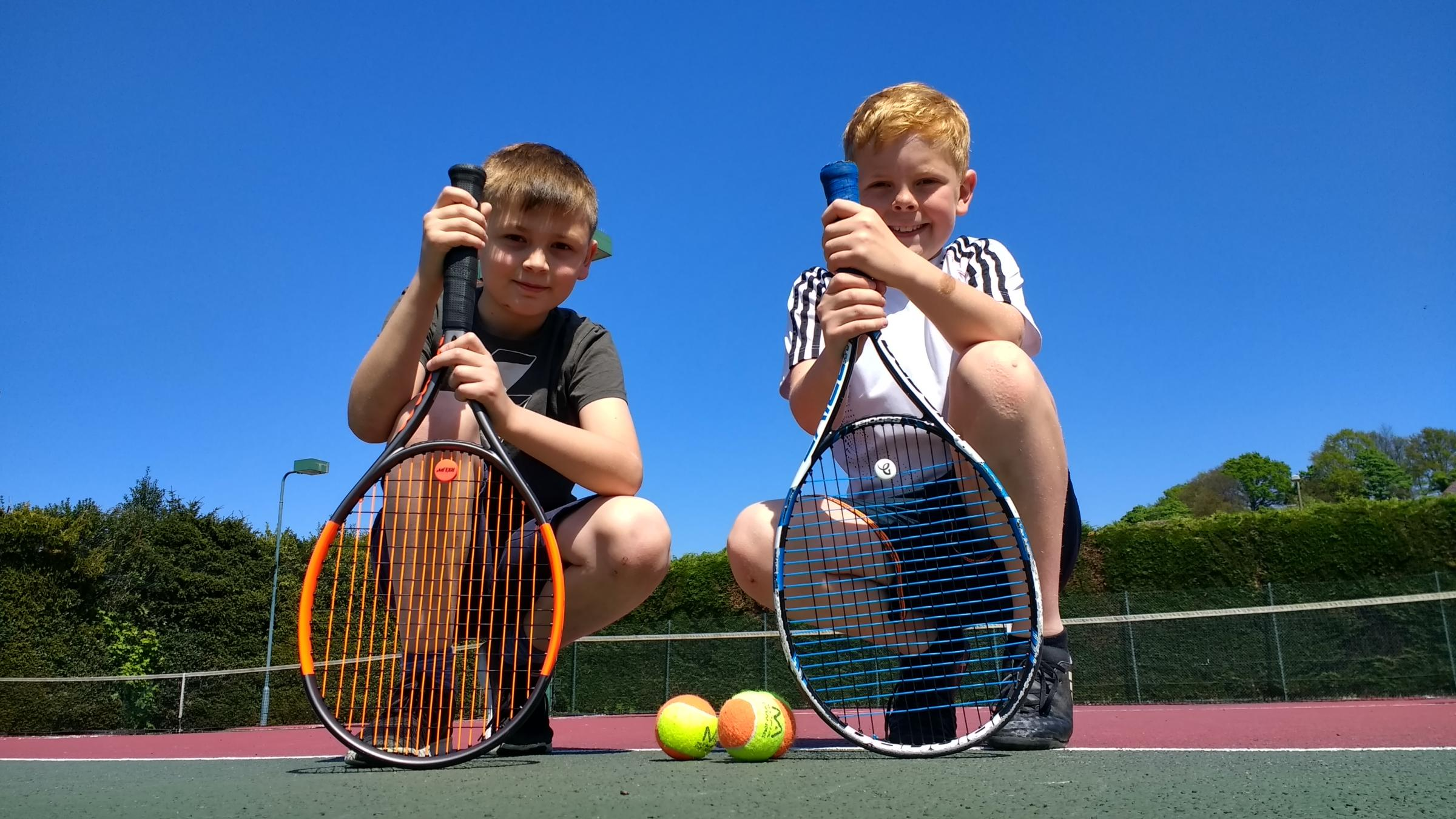 Louis Sylvester and Thomas Odell visited Bewdley Tennis Club's open day last year.