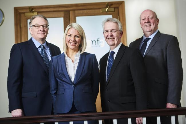 (L-R) Maynard Burton, Clare Lang, Stephen Wyer and James Hayes of mfg Solicitors. PIC: Daniel Graves Photography