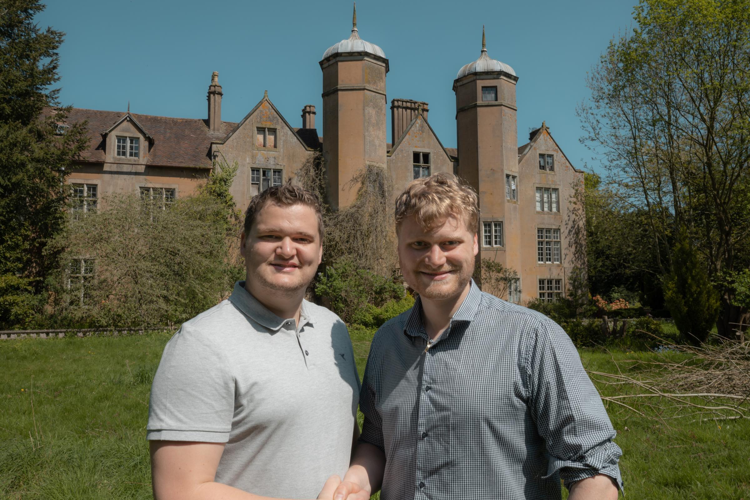 Samuel Leeds (left) and Russell Leeds have pledged to restore Ribbesford House to its former glory.