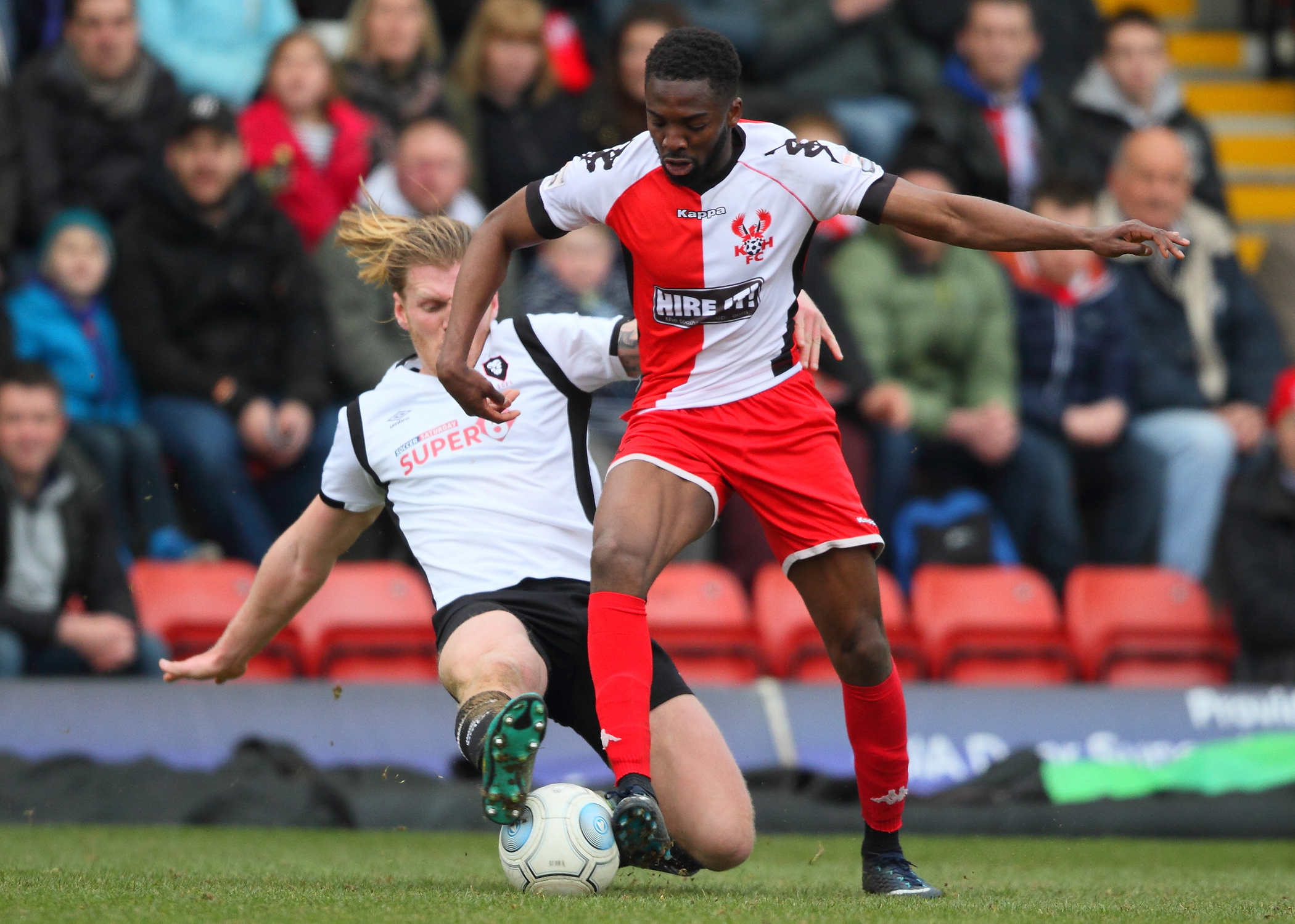 Mani Sonupe has committed to Harriers for next season. Photo by Adrian Hoskins