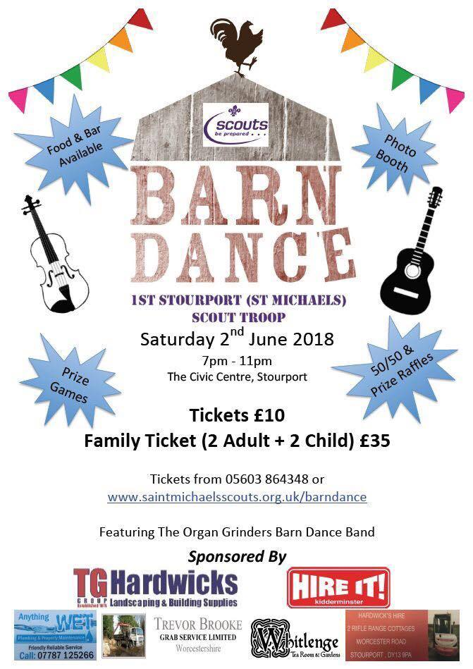 St Michaels Scout group are hosting a fundraising barn dance