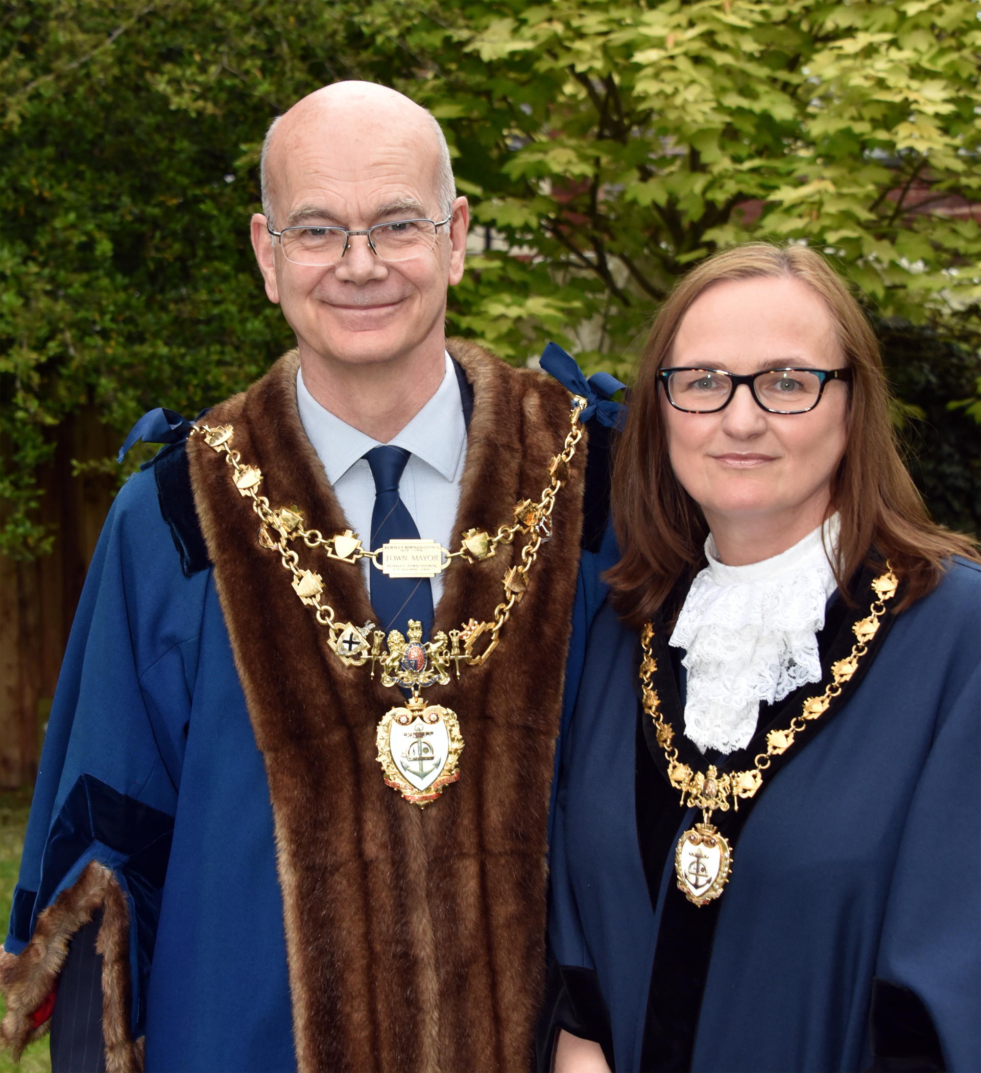 The newly elected Mayor of Bewdley Roger Coleman and his wife Anna Coleman