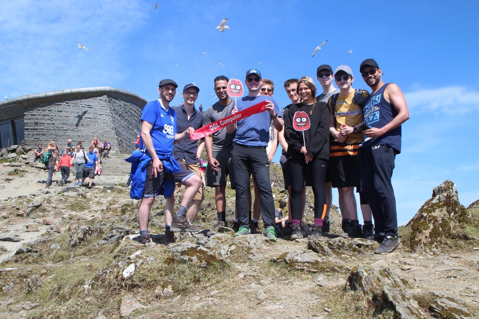 The OGL team make it to the top of Mount Snowden