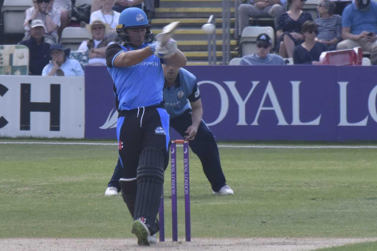 Worcestershire in batting action. Picture: DAVID GRIFFITHS