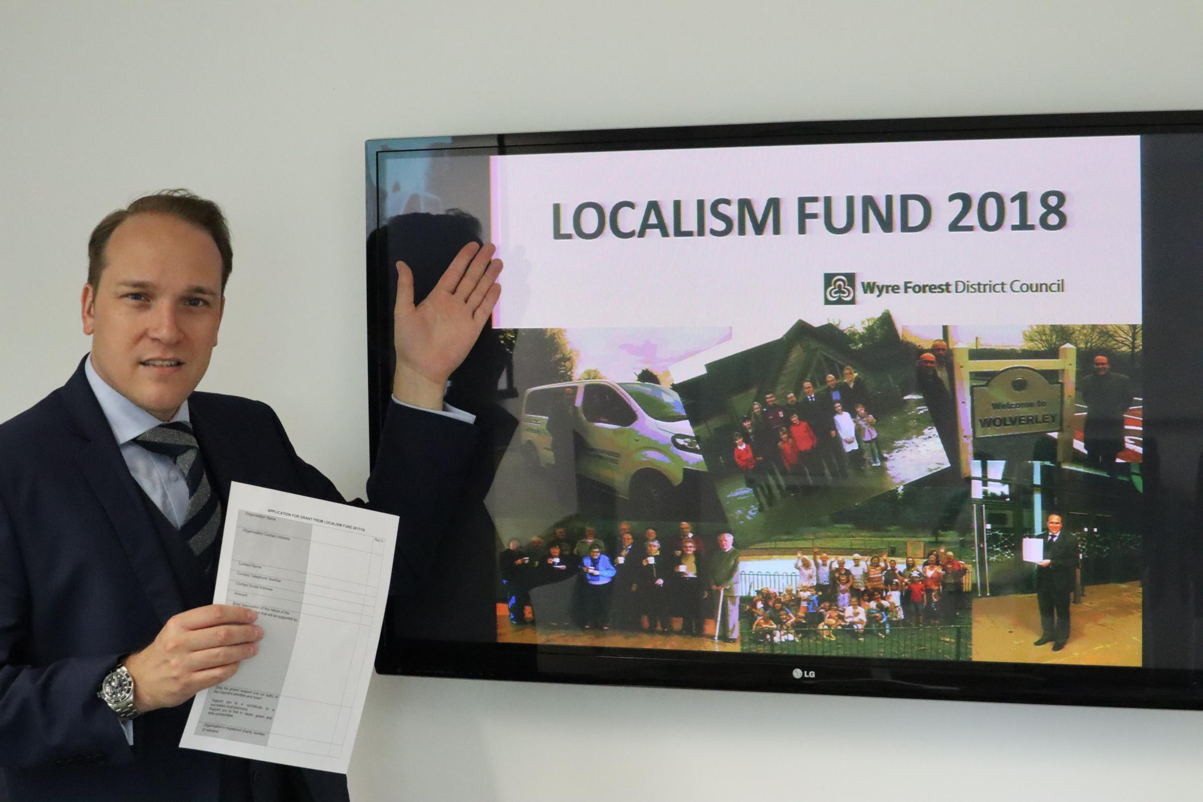 Councillor Marcus Hart launches the 2018 Localism Fund