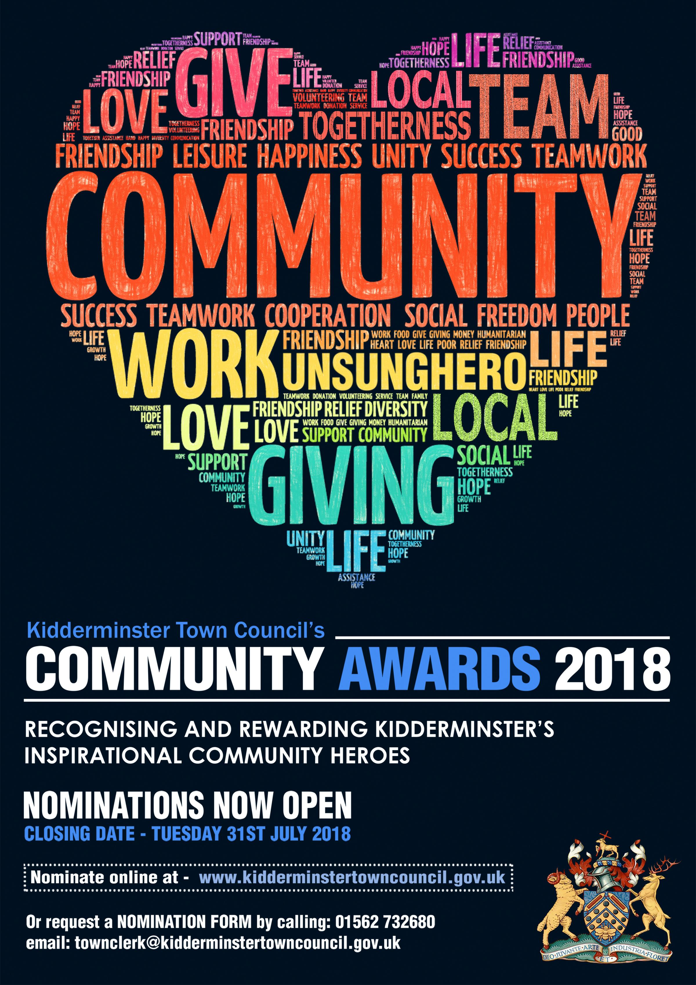 Nominations are open for Kidderminster's Community Awards
