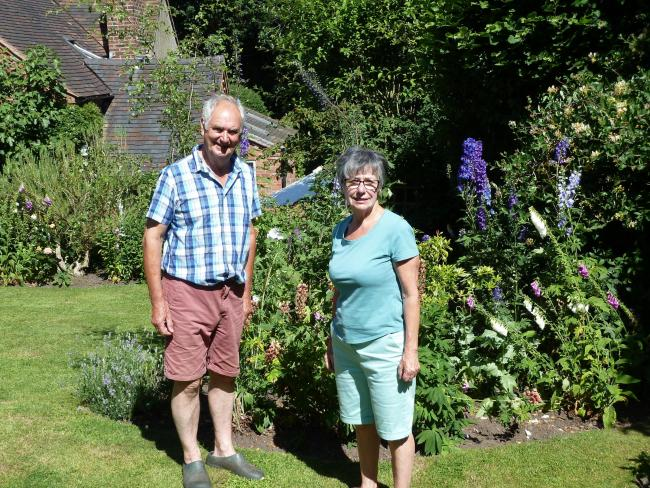 Sarah Wilde and Phillip Jones whose cottage gardens will be open on the walk