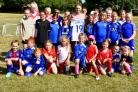 Melissa Lawley with the girls from Kidderminster Lions. Photo: Jim Wass