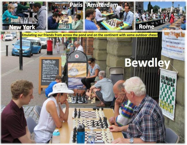 a Promotional chess event will be held at St Anne's church in Bewdley.