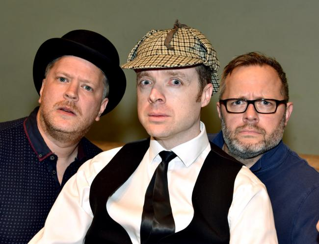 The Nonentities in The Hound of the Baskervilles (L-R) Martin Salter, Stuart Wishart, Richard Taylor PIC: Colin Hill