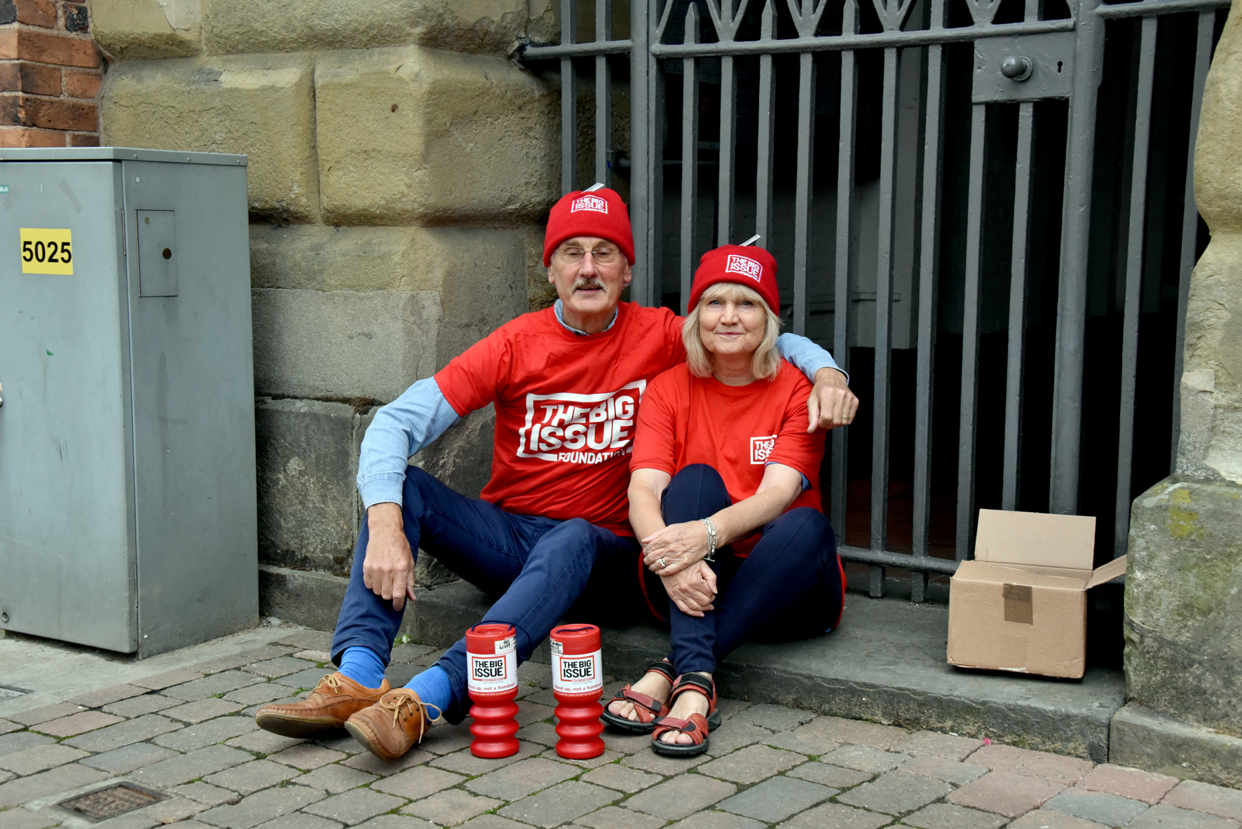 Peter and Sue Hayden are taking part in the Sleepout. PIC: Colin Hill
