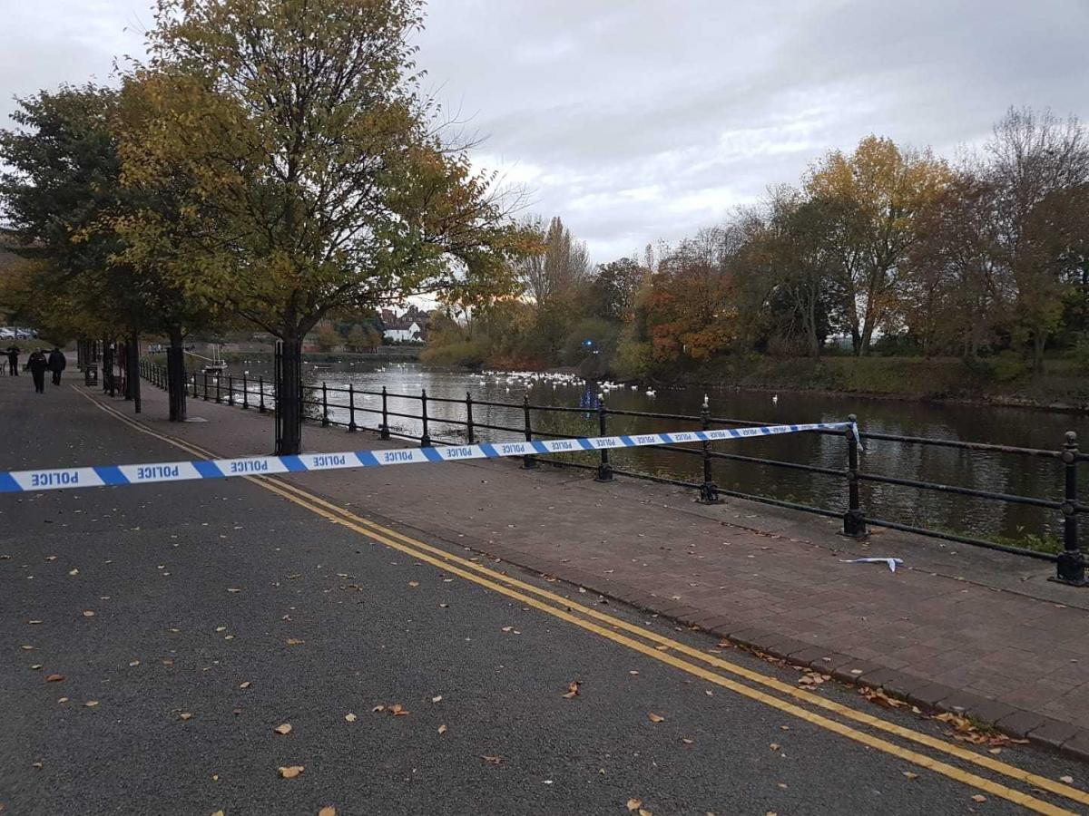 A man's body was found in the River Severn
