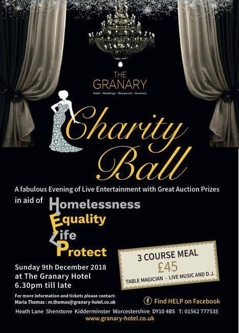 The Granary Hotel will host a charity ball and auction for the homeless