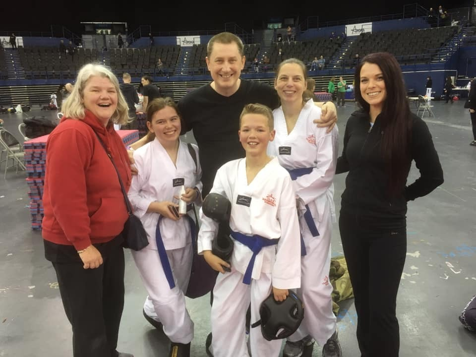 Kate Collyer (Team Coach), Jessica Giles, Paul Chesterton (Wombourne Instructor and regular Wyre Forest Member), Charlie Collyer, Helen Giles, Me Katie Billingham