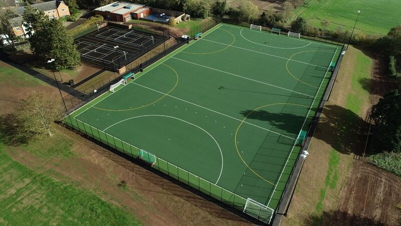 The new outdoor AstroTurf sports facility at Winterfold School in Chaddesley Corbett