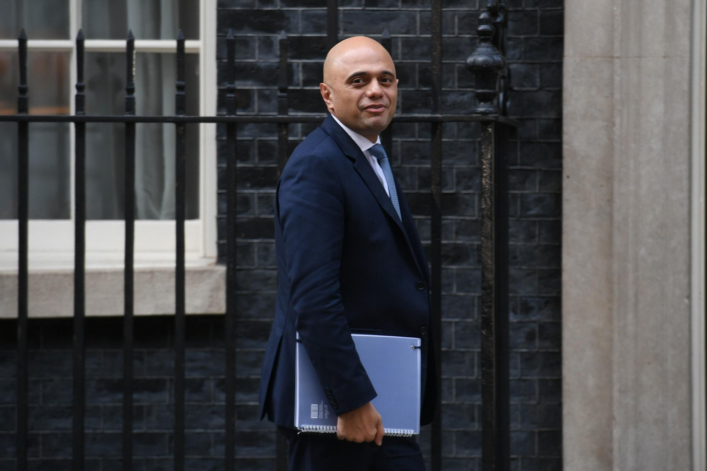 Home Secretary Sajid Javid arrives in Downing Street, London, for a Cabinet meeting. PRESS ASSOCIATION Photo. Picture date: Wednesday November 14, 2018. Prime Minister Theresa May is putting her Brexit plans to the Cabinet, 874 days after