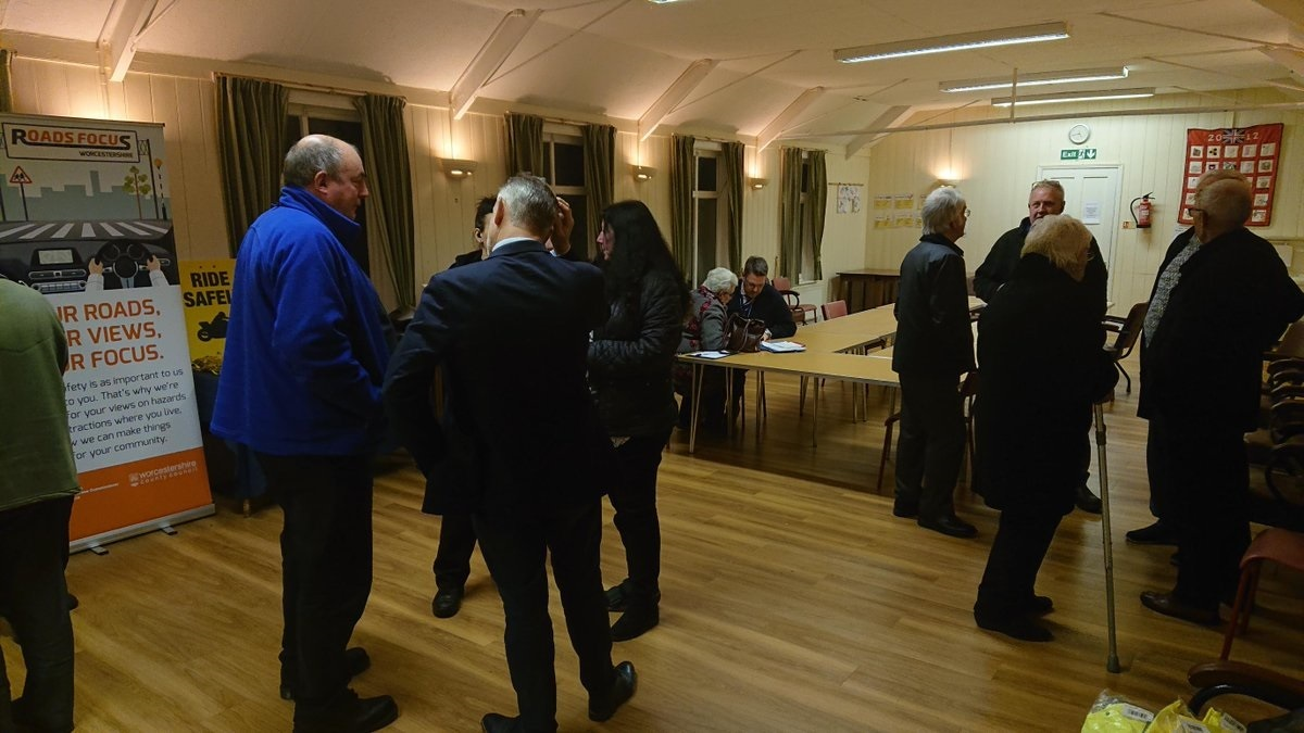 Residents have their say at a drop-in discussion on road safety at St John's church in Wolverley