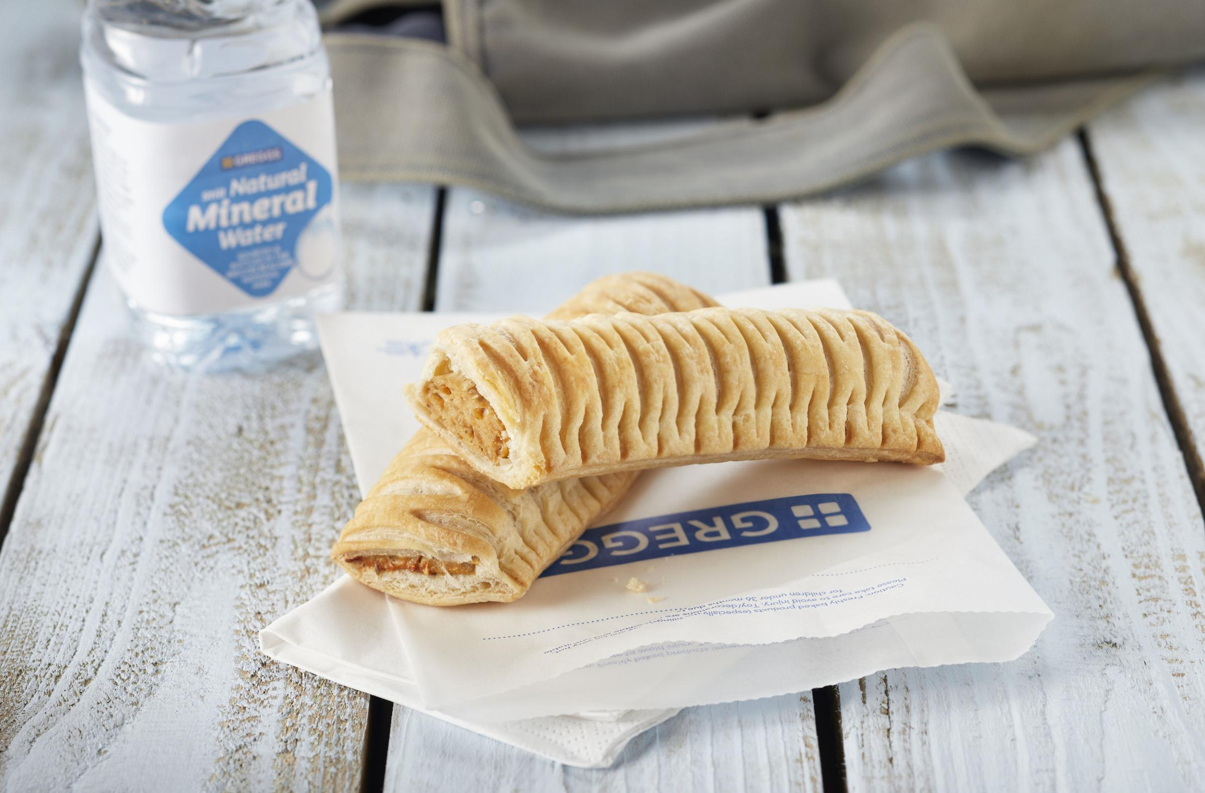The new Greggs vegan sausage roll PIC: Greggs/PA Wire