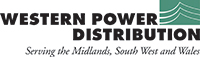 Kidderminster Shuttle: Western Power Distribution logo