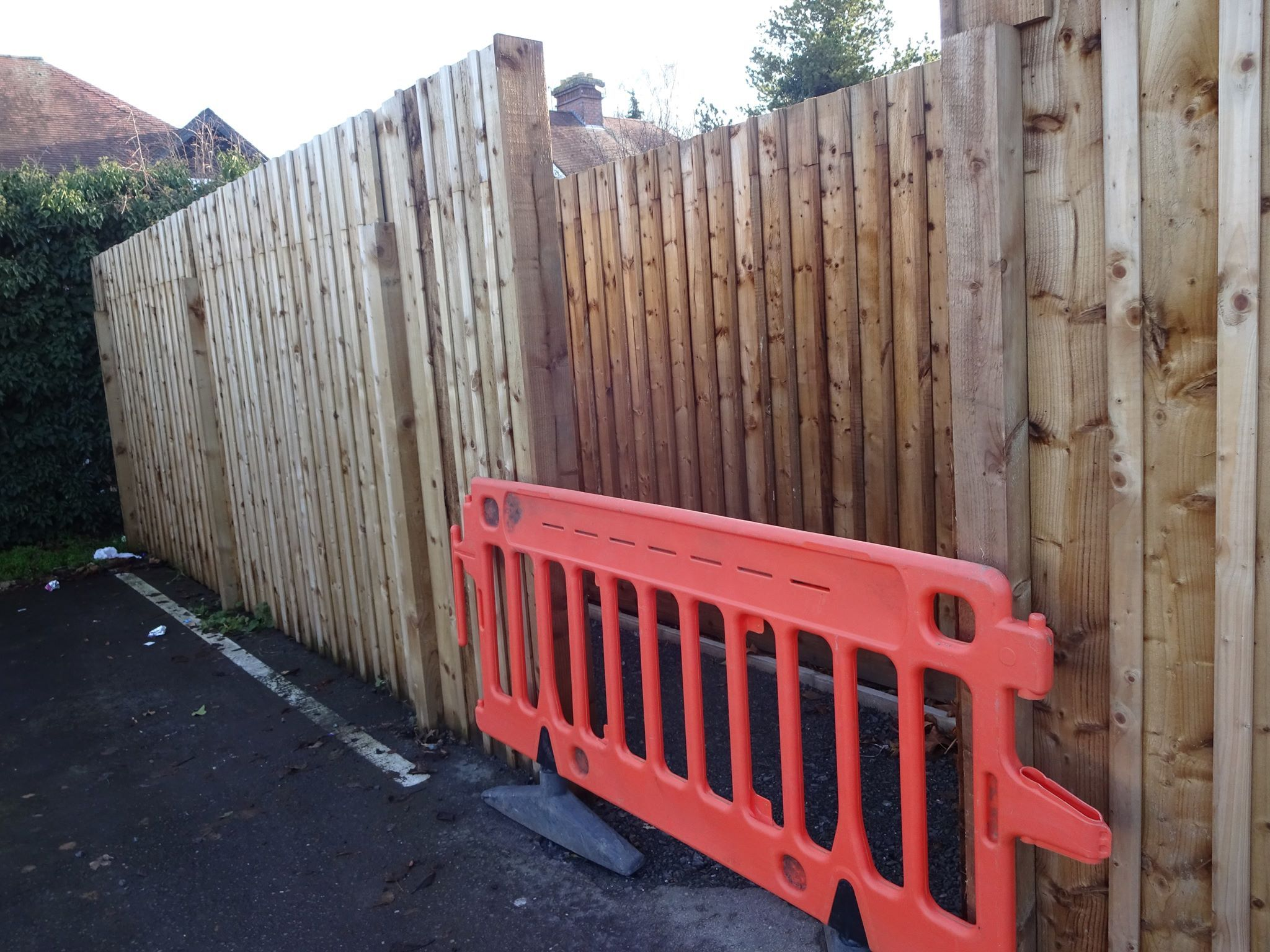 The pathway, which residents say has been there since the 1940s, is now fenced off